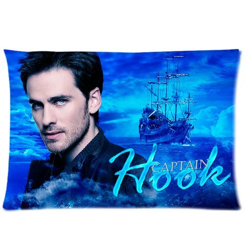 Tt-shop Soft Zippered Pillowcase Pillow case Cover 20*30 Inch (One Side) Once Upon A Time Captain Hook Pattern Fashion Design