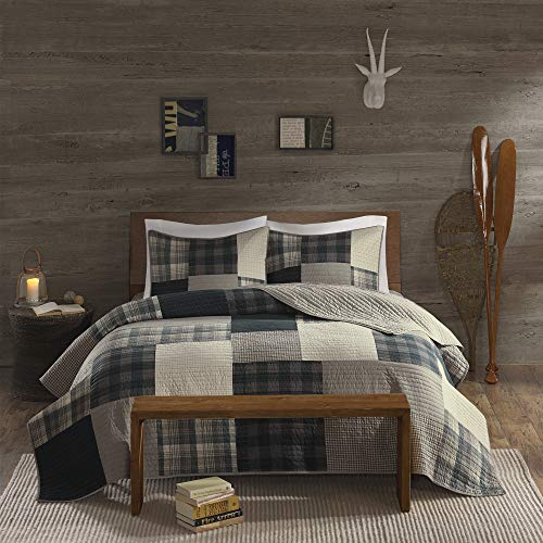 Woolrich Winter Hills Quilt Mini Set Cal King Tan, King King (Country Quilts King Size)