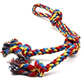 DIY House Large Dog Chew Rope Toys for Aggressive Chewers Rope Chew Toys for Large Medium Dogs Indestructible Tug of War Durable 100% Cotton Rope Toy for Large Breed Toy
