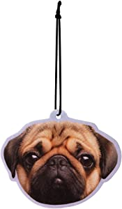 Pugs & Kisses Dog Peach Air Freshener Car Office Home Gym Locker