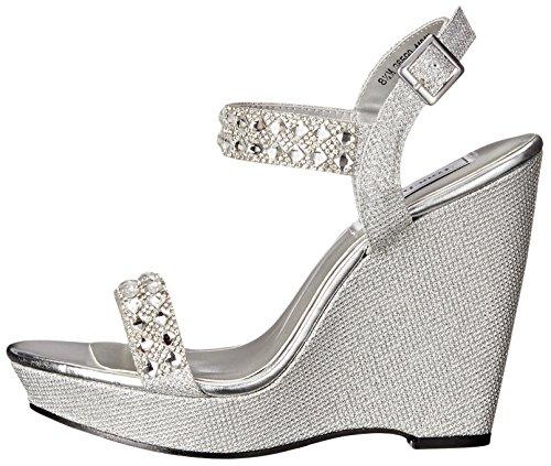 Ups Sandal Shimmer Women's Silver Touch Wedge Brynn Pdzwq4p