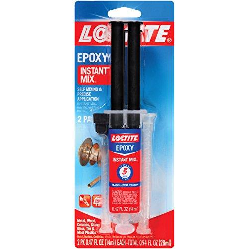 Loctite Epoxy Five Minute Instant Mix, Two 0.47-Fluid Ounce Syringes - Epoxy Loctite Plastic