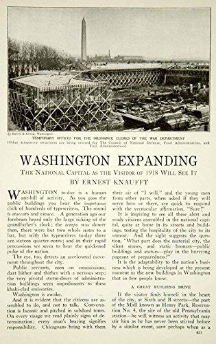 1917 Article WWI Washington DC Mall Wartime Red Cross Building Architecture YRR1 - Original Print - Dc Malls