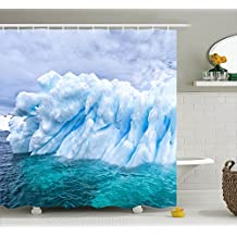 Where Can I Buy Unique Pictures of Iceland and Northpole Polyester Waterproof Shower Curtain-Bathroom Accessoriess 72x72