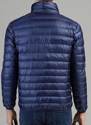 Blue EKU Puffer Collar Navy Winter Men's L Down Stand Jacket Packable US xYOYPrwAq