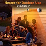 Patio Heater - 1500W Infrared Red Tube Space Heater