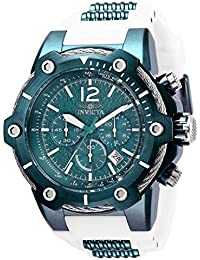 Mens Bolt Quartz Stainless Steel and Silicone Watch, Color:White (Model