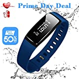 Fitness Tracker, Activity Tracker with Heart Rate Monitor Watch,Smart Watch with Blood Pressure Test, Waterproof Fitness Band with Sleep Monitor Step Calorie Counter, Pedometer Watch