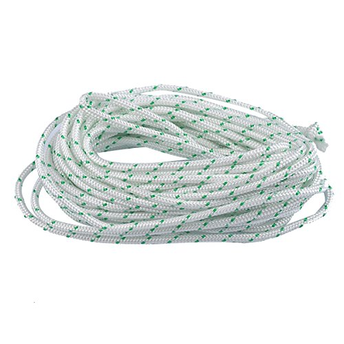 HIPA 10-Meter 4.0mm Recoil Starter Rope Pull Cord for Craftsman Husqvarna Stihl Poulan Sears Briggs Stratton Lawn Mower Chainsaw Trimmer Edger Brush Cutter Engine Parts