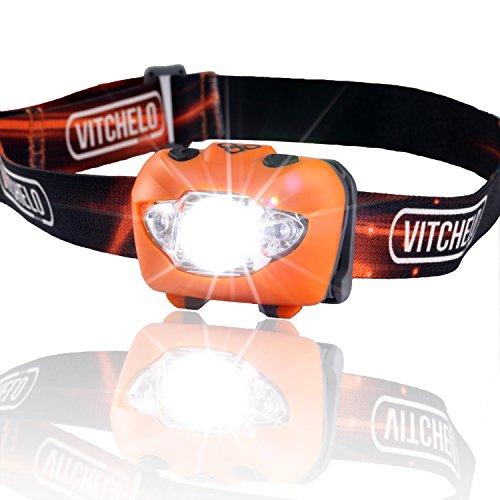 Vitchelo V800 Headlamp Flashlight with Red LED, Orange ...