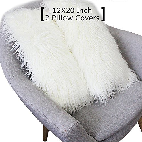 FURTALK Decorative Faux Fur Throw Pillow Covers Case Cushion
