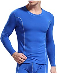 Men's Thermal Crewneck Top Midweight Slim Fit Wicking Cold Weather