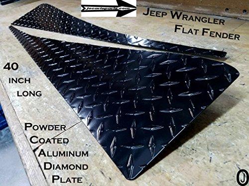 Jeep Wrangler TJ Black Powder Coated Diamond Plate Fullsize Fender Cover set
