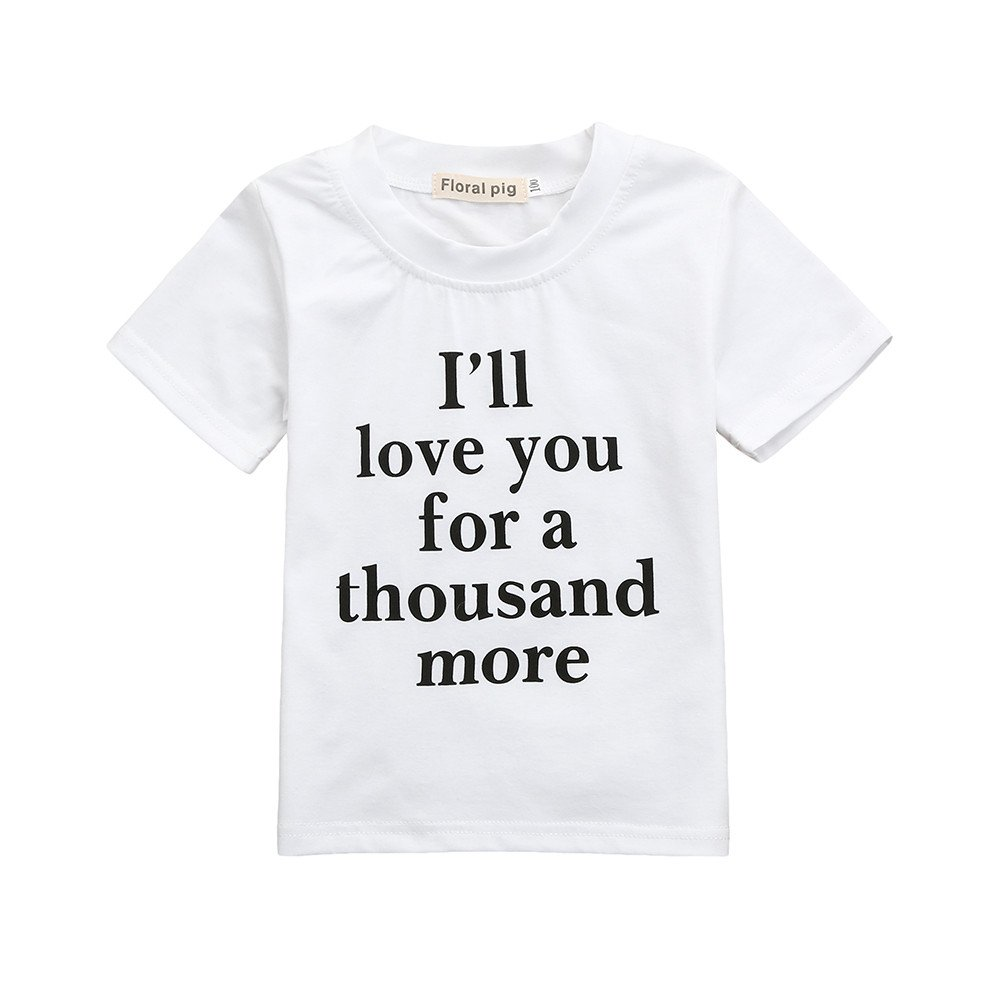 Hongxin Family Matching Tshirts, Mom Daughter Family Matching Shirt Outfits Casual T-Shirt Tops Clothes Outfits Casual Tshirt Letters Print Creative Mothers Day Gift (Size:12M, Kids only)