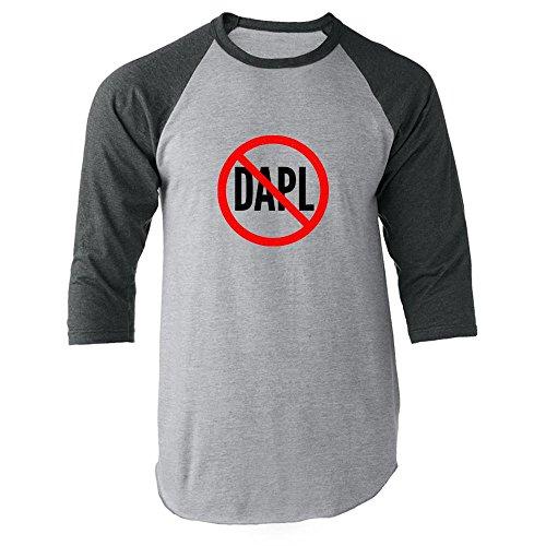 Pop Threads No To Dakota Access Pipeline Dapl Gray 3Xl Raglan Jersey T Shirt