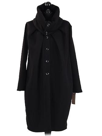 64955836b0 LushStyleUK New Ladies Italian Fleece Long Coat Women Wraparound ...