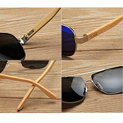 de diseñador Vendimia TP UV400 de Sol Madera Gafas Wayfarer 3 la Gafas de de Color de Libre Deportes Retro Sol Aviator al 6 de Aire qqIzfwF