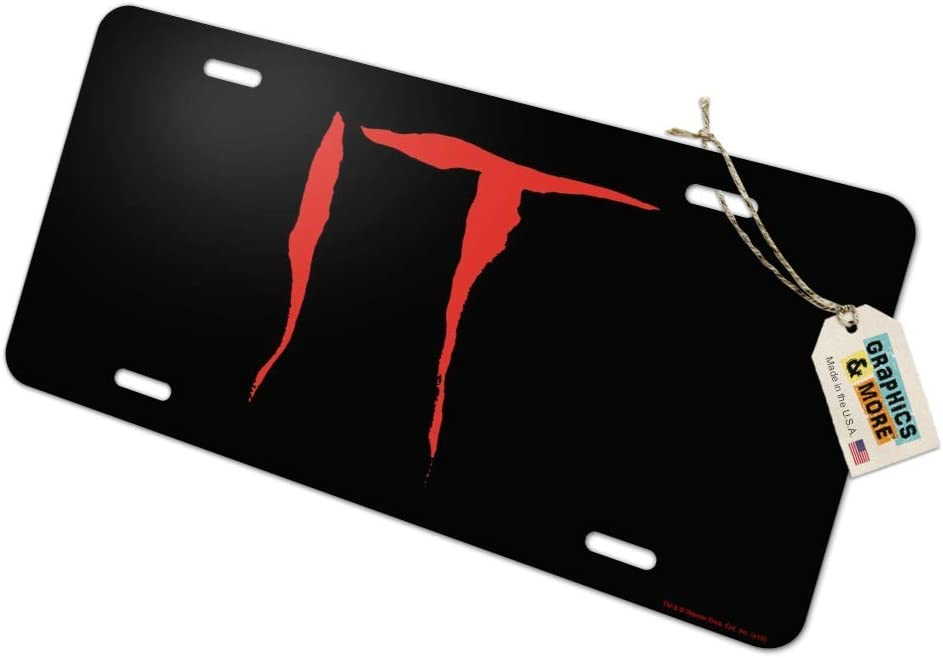 Graphics and More IT Movie Logo Novelty Metal Vanity Tag License Plate