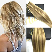 Sunny Straight Brazilian Remy Human Hair Weave 100gram/bundle Dark Ash Blonde with Golden Blonde Unprocessed Human Hair Weft Extensions 24 Inches