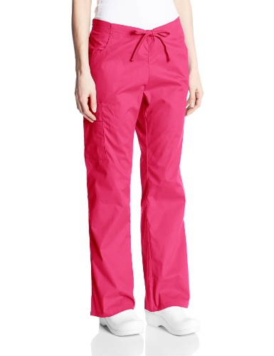 Dickies Women's EDS Signature Scrubs Missy Fit Drawstring Cargo Pant, Hot Pink, XX-Small