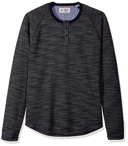 Original Penguin Men's Long Sleeve French Rib Henley, Dark Sapphire, Medium by Original Penguin