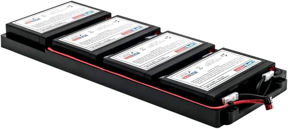 APC Smart-UPS 750VA RM 1U EMC750R1I Compatible Replacement Battery Pack by UPSBatteryCenter