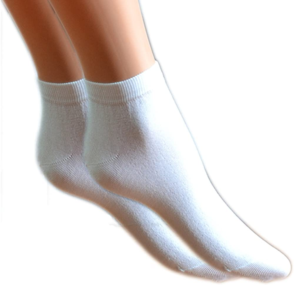 Fontana Calze 12 paia di Mini Calza caviglia DONNA in cotone Filo di Scozia elasticizzato.