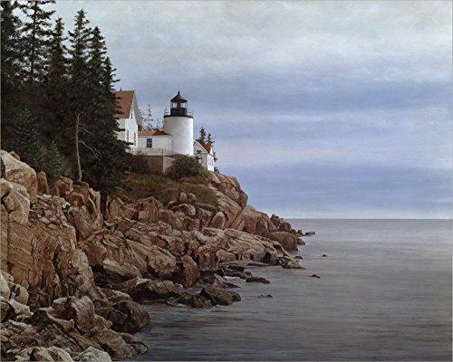 Bass Harbor Light by David Knowlton Laminated Art Print, 48 x 38 inches