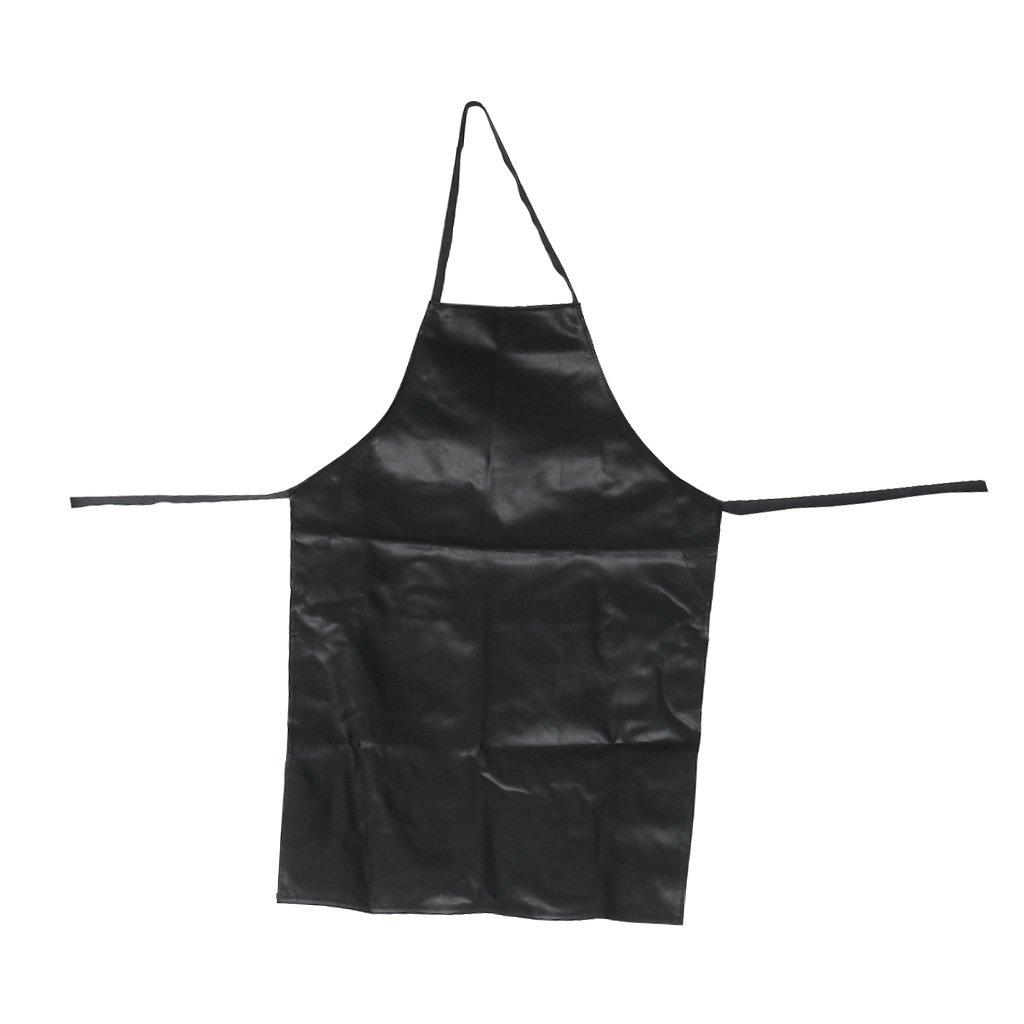 MagiDeal Adulto Unisex Addensare Grembiule Chef Macellai Impermeabile Cucina Ristorazione Nero