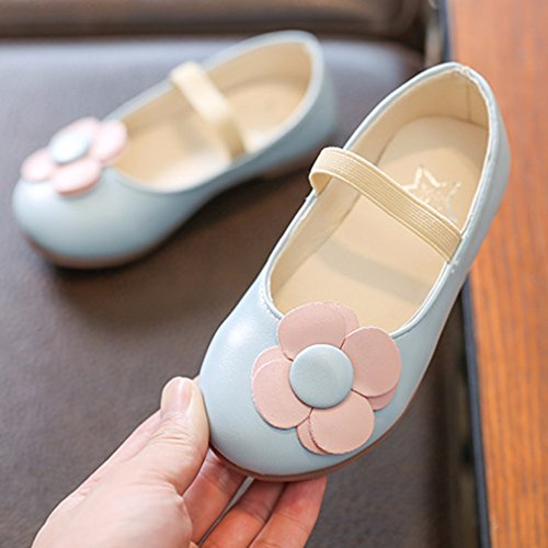 Mädchen Schuhe Partei Kinder Sandalen Blau KVbaby Prinzessin Jane Ballerina Mary Halbschuhe Ownq4fP