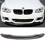 Front Bumper Lip Fits 2011-2013 BMW E92 E93   LCI M-Tech M-Sport AK Style Carbon Fiber CF Front Lip Protector Splitter by IKON MOTORSPORTS   2012