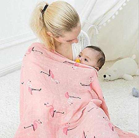 Amazon.com: QAV juh paquete de 3 muselina para bebé bebé ...