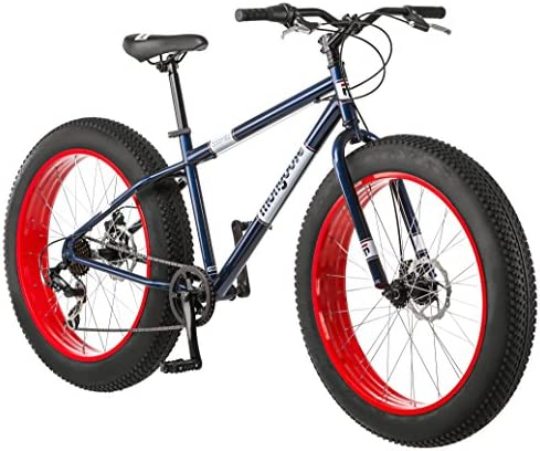Mongoose Dolomite Fat Tire Mens Mountain Bike,17-Inch Medium High-Tensile Steel Frame, 7-Speed, 26-inch Wheels