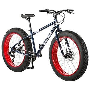 Mongoose Dolomite Fat Tire Mens Mountain Bike,17-Inch/Medium High-Tensile Steel Frame, 7-Speed, 26-inch Wheels
