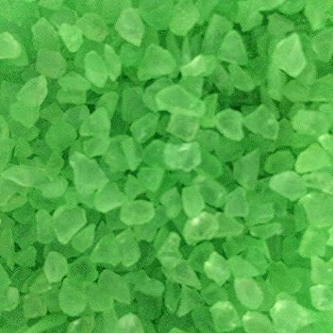 Miniature Fairy Garden Mirror Glass Pebbles Aggregates Crystal like Sand River Rock 50-60g Neon Green for Aquarium Fish Tank Decorations, Fantastic Garden or Yard, Resin Making Jewel Craft DIY Project - Crystal Fish Figurine