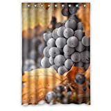Tic-Tac Curtains Black grape Shower Curtain Measure 48