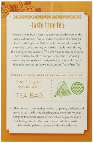 Rishi Tea Organic Turmeric Ginger Tea Bags, 15 Count  (Pack of 6) by Rishi Tea (Image #3)