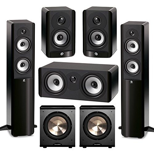 Boston Acoustics 5.2 System with 2 A250 Floorstanding Speakers, 1 A225C Center Channel Speaker, 2 A23 Bookshelf Speakers,