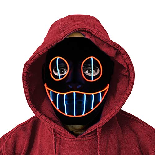Glowing Creepy Mask with Elastic Band - Adjustable Mask Fit for Kids & Adults ()