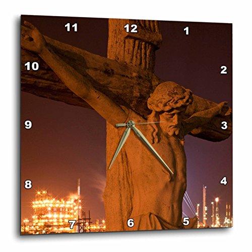 3dRose dpp_90470_1 Louisiana, Baton Rouge, Statue of Jesus Christ - US19 PSO0003 - Paul Souders - Wall Clock, 10 by - Baton Outlets Rouge
