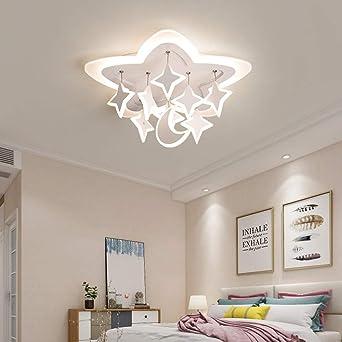 WSYYWD Lámpara de techo LED moderna y creativa Acrílico de estrella para sala de estar Comedor Regulable con control remoto 53 cm: Amazon.es: Iluminación