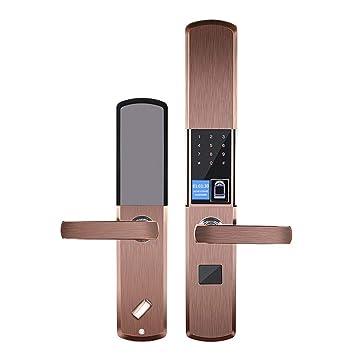Gfone - Cerradura de puerta digital con huella dactilar, protección antirrobo, para máquinas de