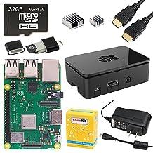 CanaKit Raspberry Pi 3 B+ (B Plus) Starter Kit (32 GB, Premium Black Case)