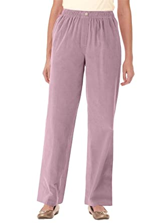 Plus Size Tall Corduroy Comfort Waist Pants at Amazon Women's ...