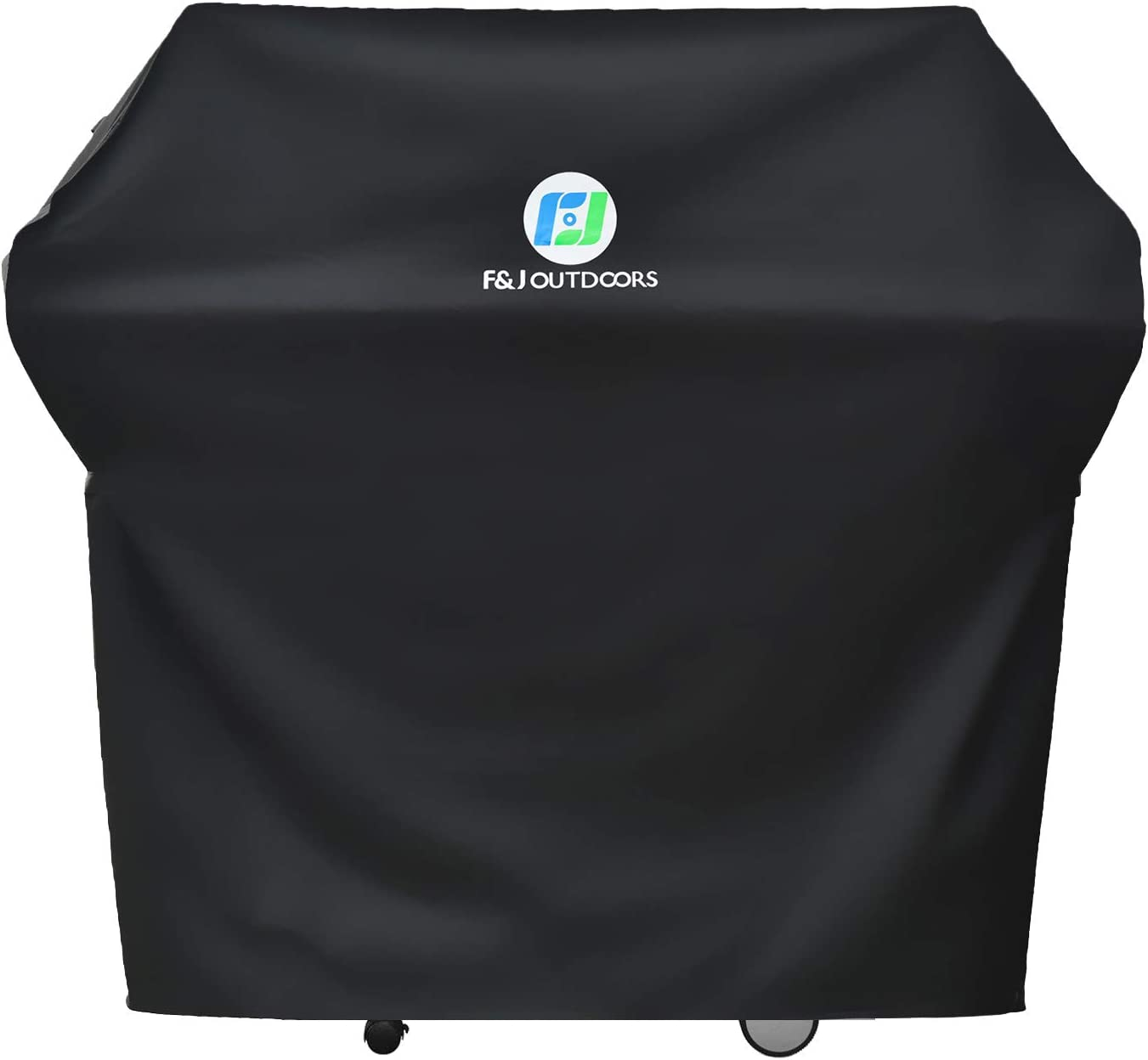 F&J Outdoors Waterproof Grill Cover, 72x26x51 inches UV Protection for Fade Resistance BBQ Barbecue Covers Fit 5 and More Burner Gas Grills, Black