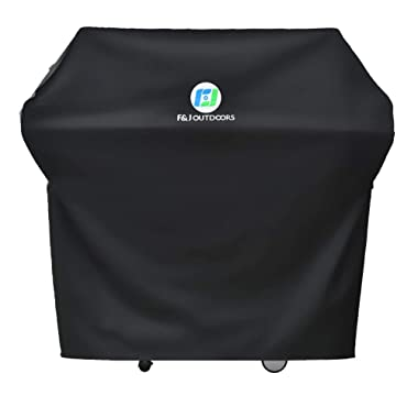F&J Outdoors Waterproof Grill Cover, 58x24x48 inches UV Resistant Anti-Fading Heavy Duty Fabric BBQ Barbecue Covers Fit 3-5 Burner Gas Grills, Black