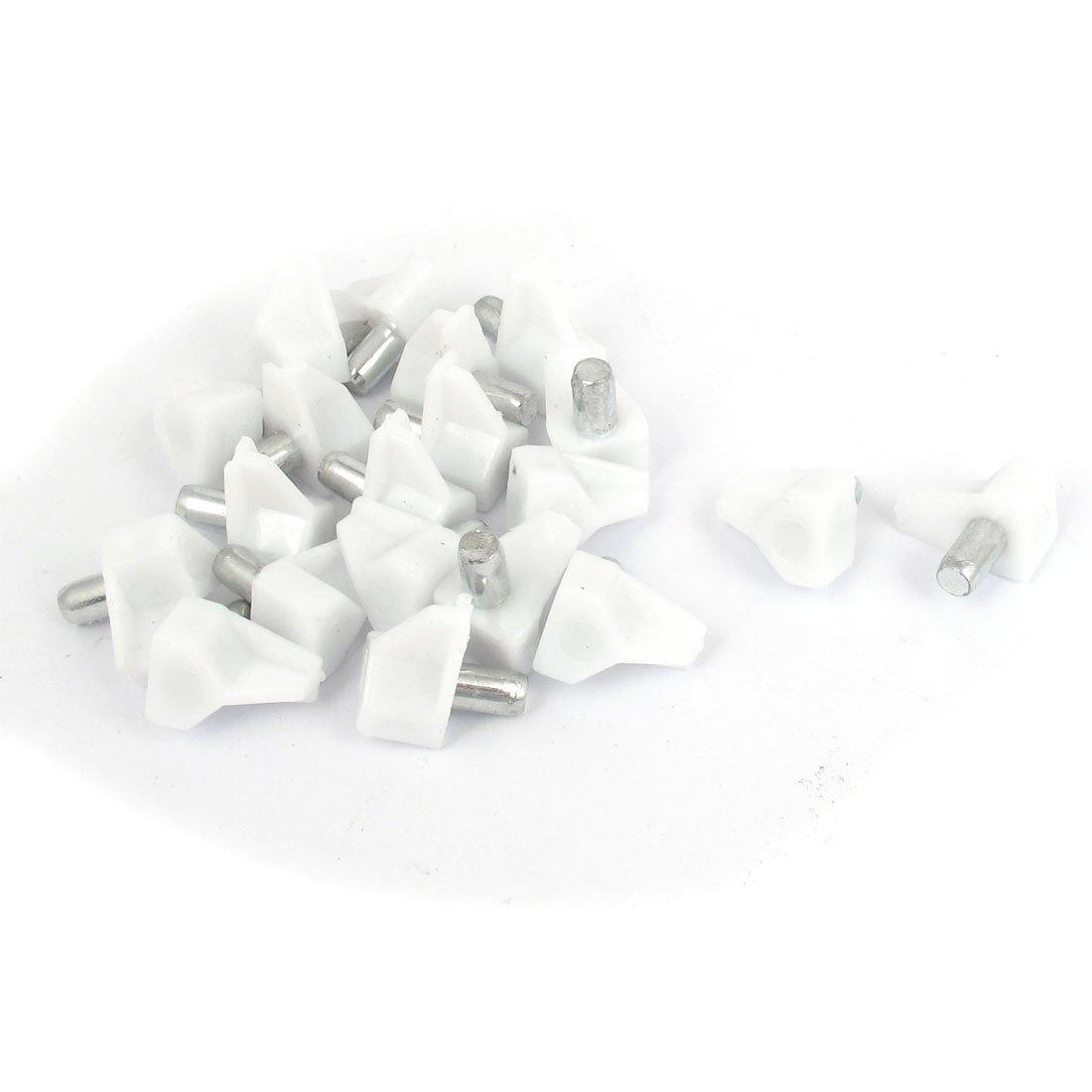 20 Stück Weiß 5mm Durchmesser Plastik Küchenschrank Regale Pin ...