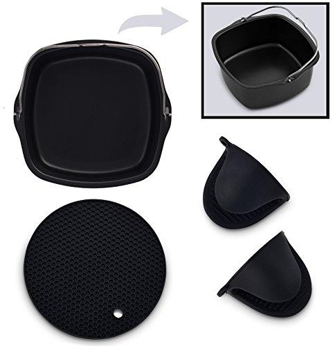 Airfryer Nonstick Baking Pan 3-in-1 Air Fryer Accessories