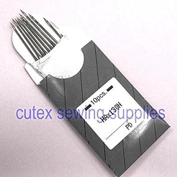 10 Titanio hax130 N top-stitching casa de vástago soporte de agujas para máquina de coser: Amazon.es: Juguetes y juegos