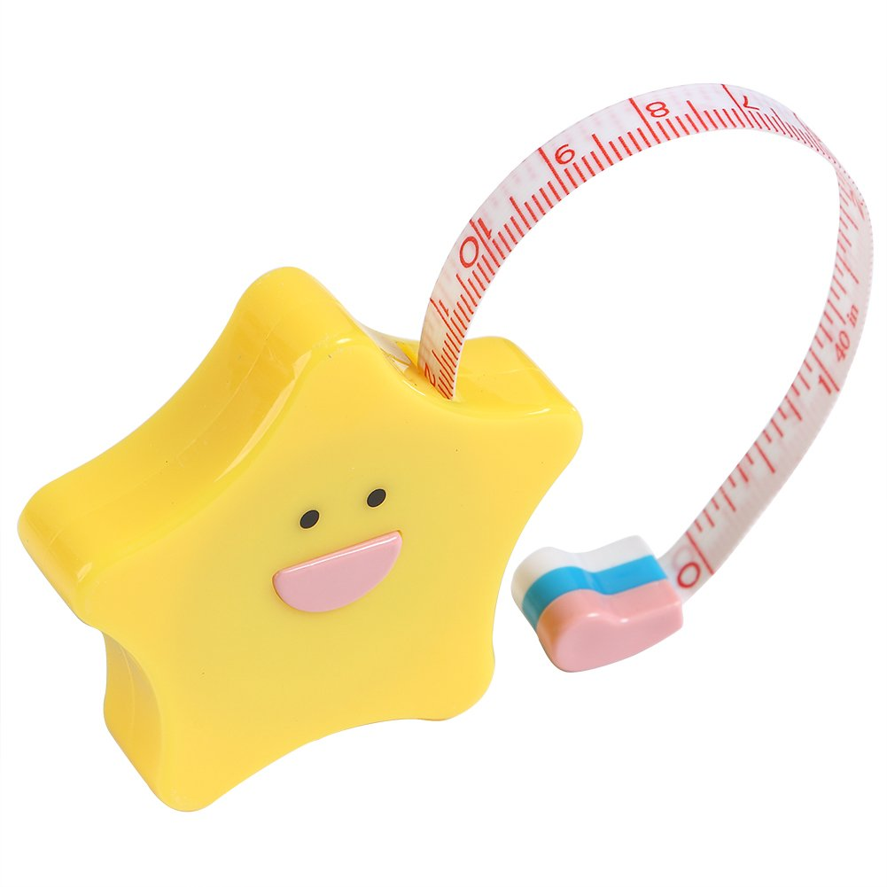 Heart Shape Tape Ruler Retractable Tape Fabric Measuring Ruler Soft Tape Measure Cloth Sewing Tailor Ruler 40 Inch//100 cm Pink